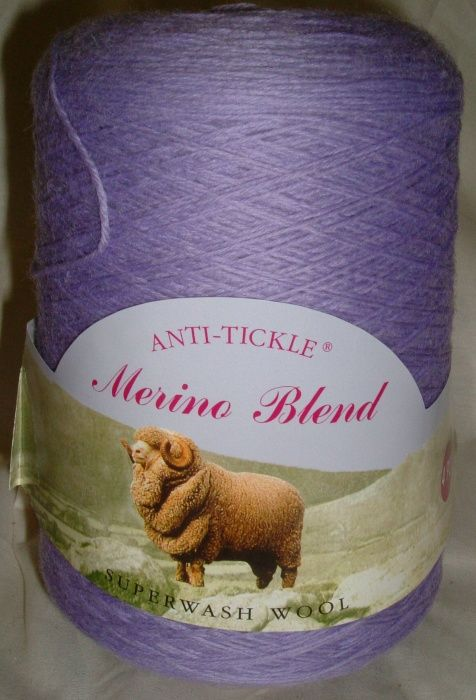 King Cole Pure Wool Yarn 500g Cone 4ply - Lavender