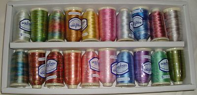 Marathon Embroidery Thread Rayon Kaleidoscope Box Set Ombre/Multi Dyed