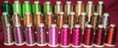 Marathon Rayon Embroidery Machine Thread 1000m Spool Choice of Colours 1117-1157