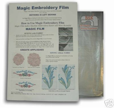 A815 Magic Embrodery Film Trial pack 2mtr x 50cms
