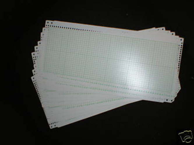 Blank Card Set for Knitmaster, Brother Knitting Machines K51