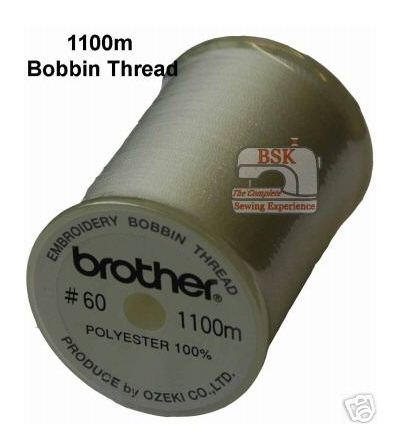 Brother Embroidery Machine Bobbin Thread White  A872