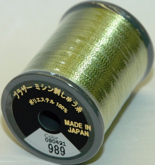 Brother Embroidery Machine Thread Metallic Polyester - Fresh Green
