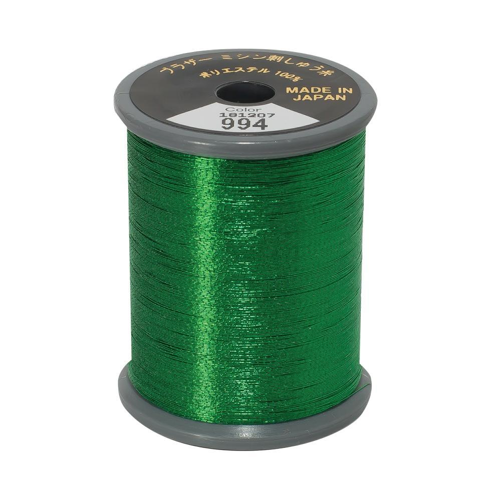 Brother Embroidery Machine Thread Metallic Polyester - Green