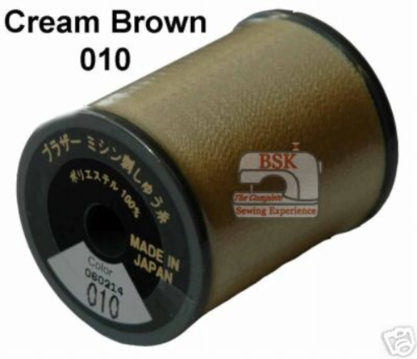Brother Embroidery machine Thread Polyester Cream Brown A817.010