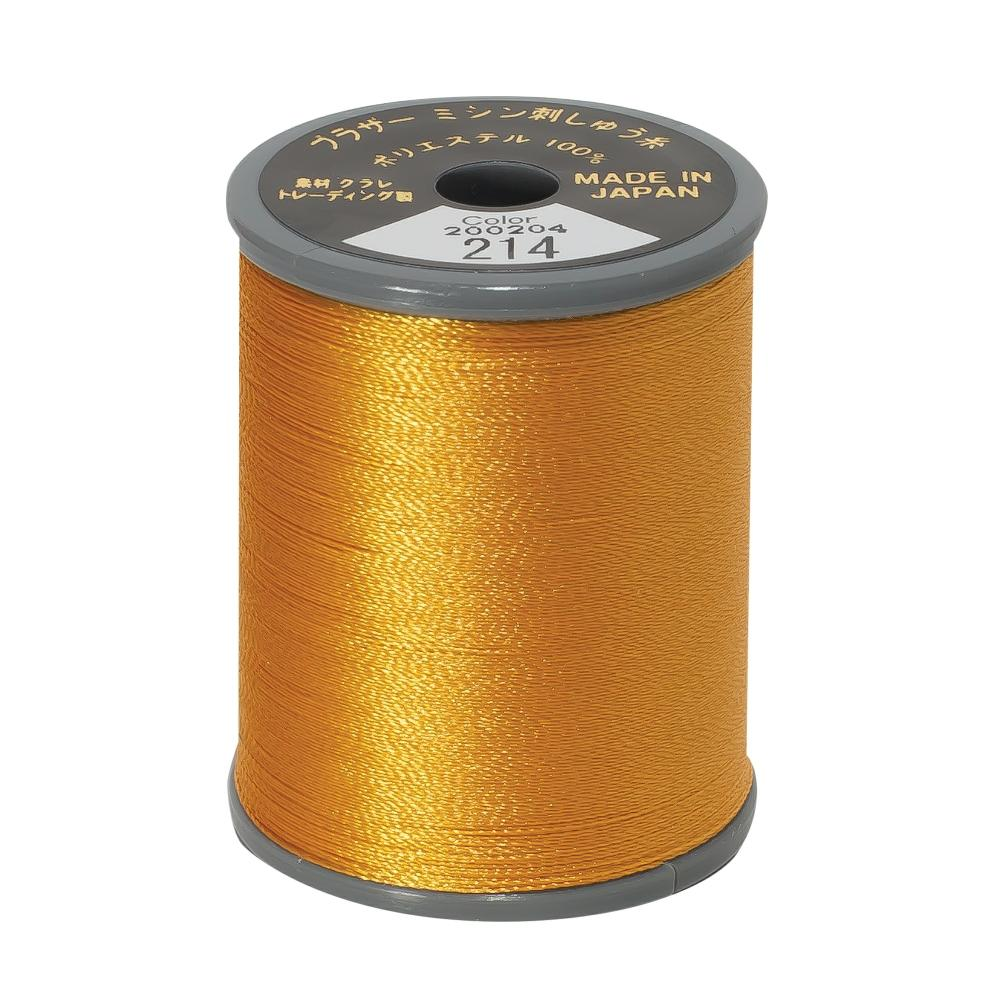 Brother Embroidery machine Thread Polyester Deep Gold A817.214