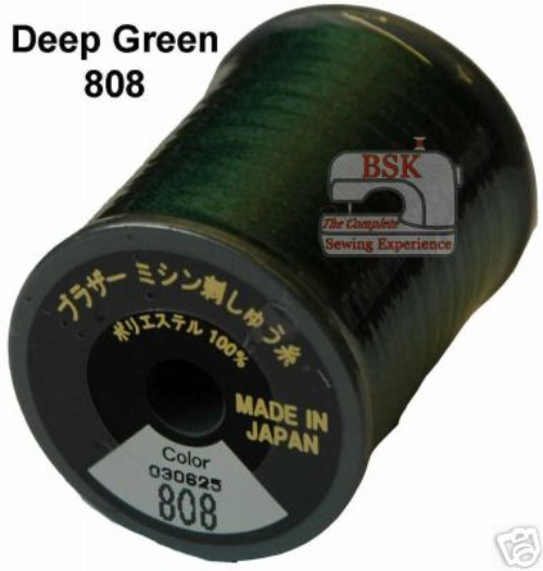 Brother Embroidery machine Thread Polyester Deep Green A817.808