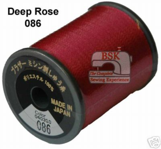 Brother Embroidery machine Thread Polyester Deep Rose A817.086