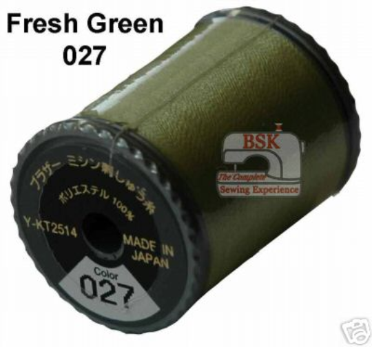 Brother Embroidery machine Thread Polyester Fresh Green A817.027