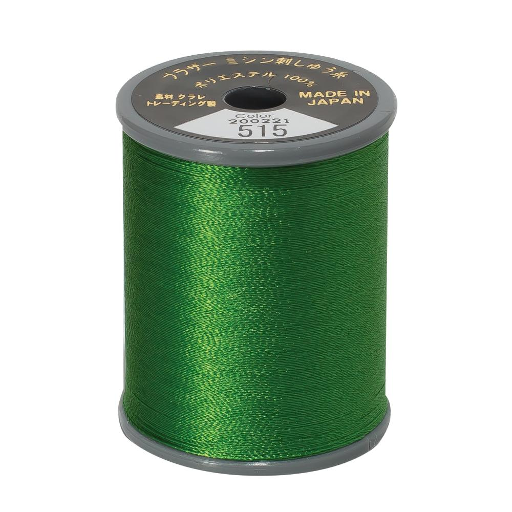 Brother Embroidery machine Thread Polyester Green - 515