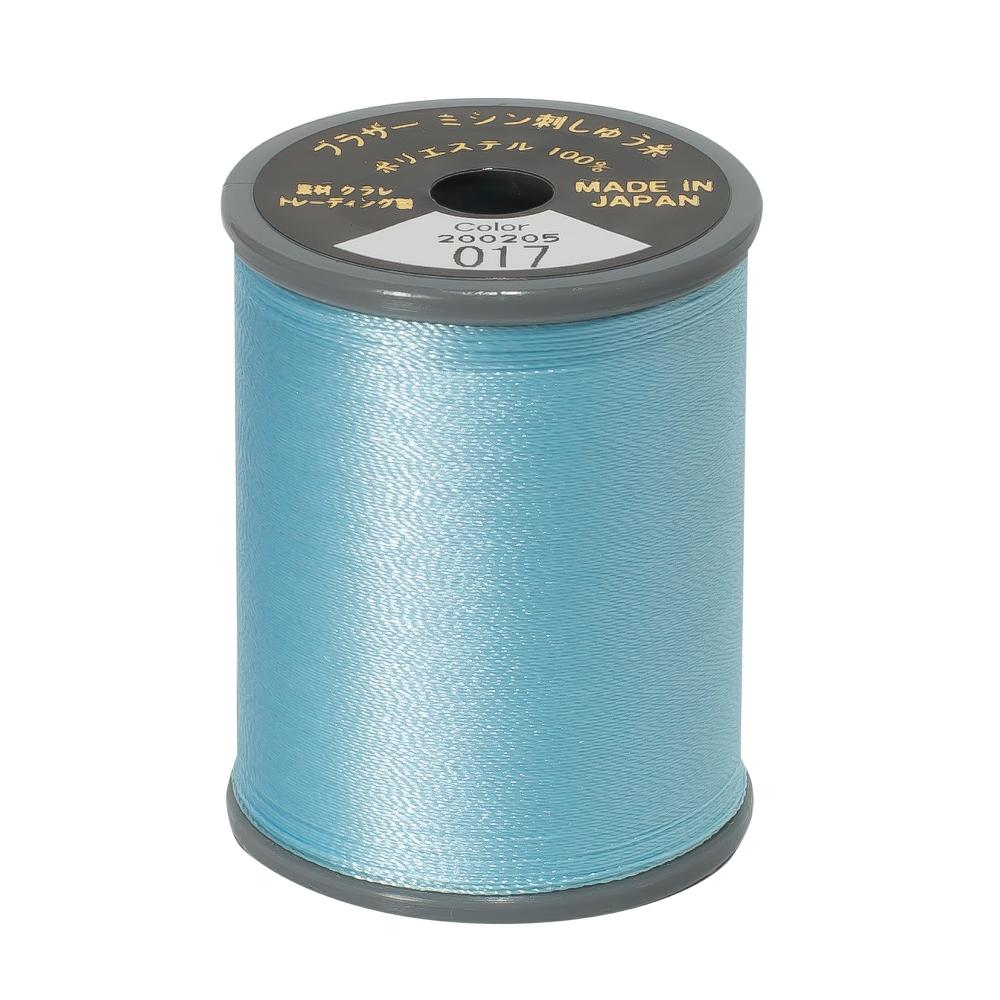Brother Embroidery machine Thread Polyester Light Blue A817.017
