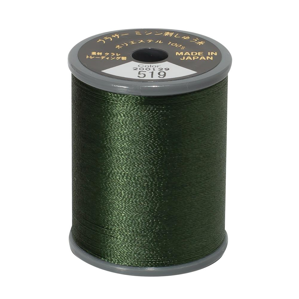 Brother Embroidery machine Thread Polyester Olive Green A817.519