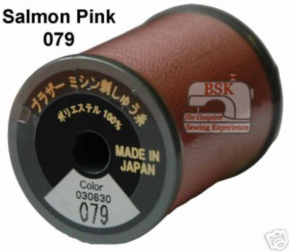 Brother Embroidery machine Thread Polyester Salmon Pink A817.079