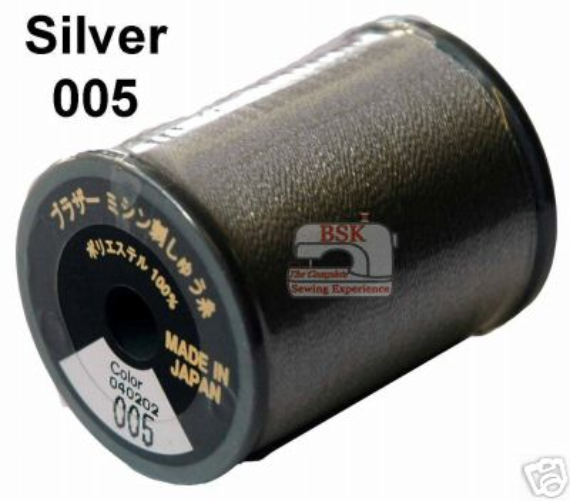 Brother Embroidery machine Thread Polyester Silver A817.005