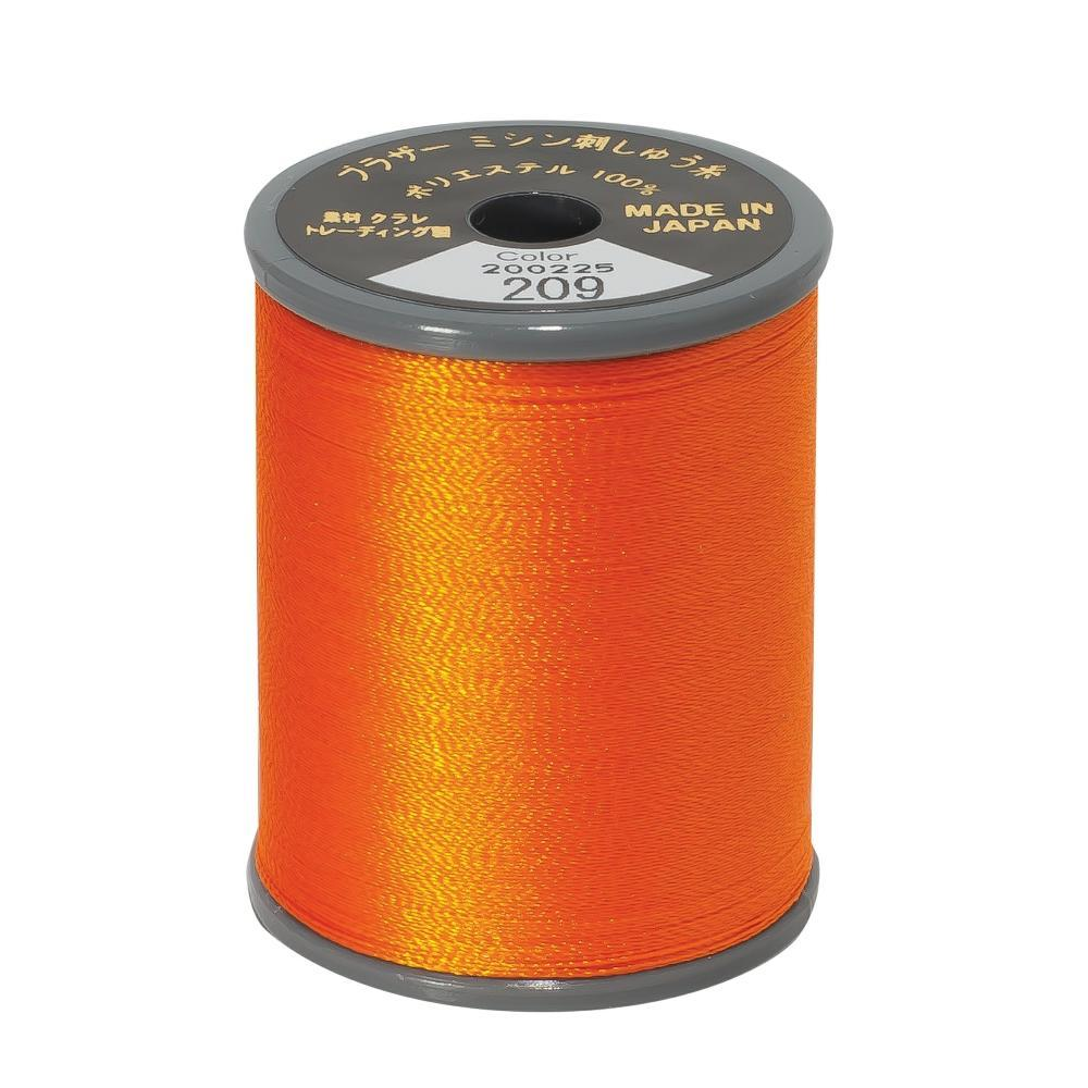 Brother Embroidery machine Thread Polyester Tangerine A817.209