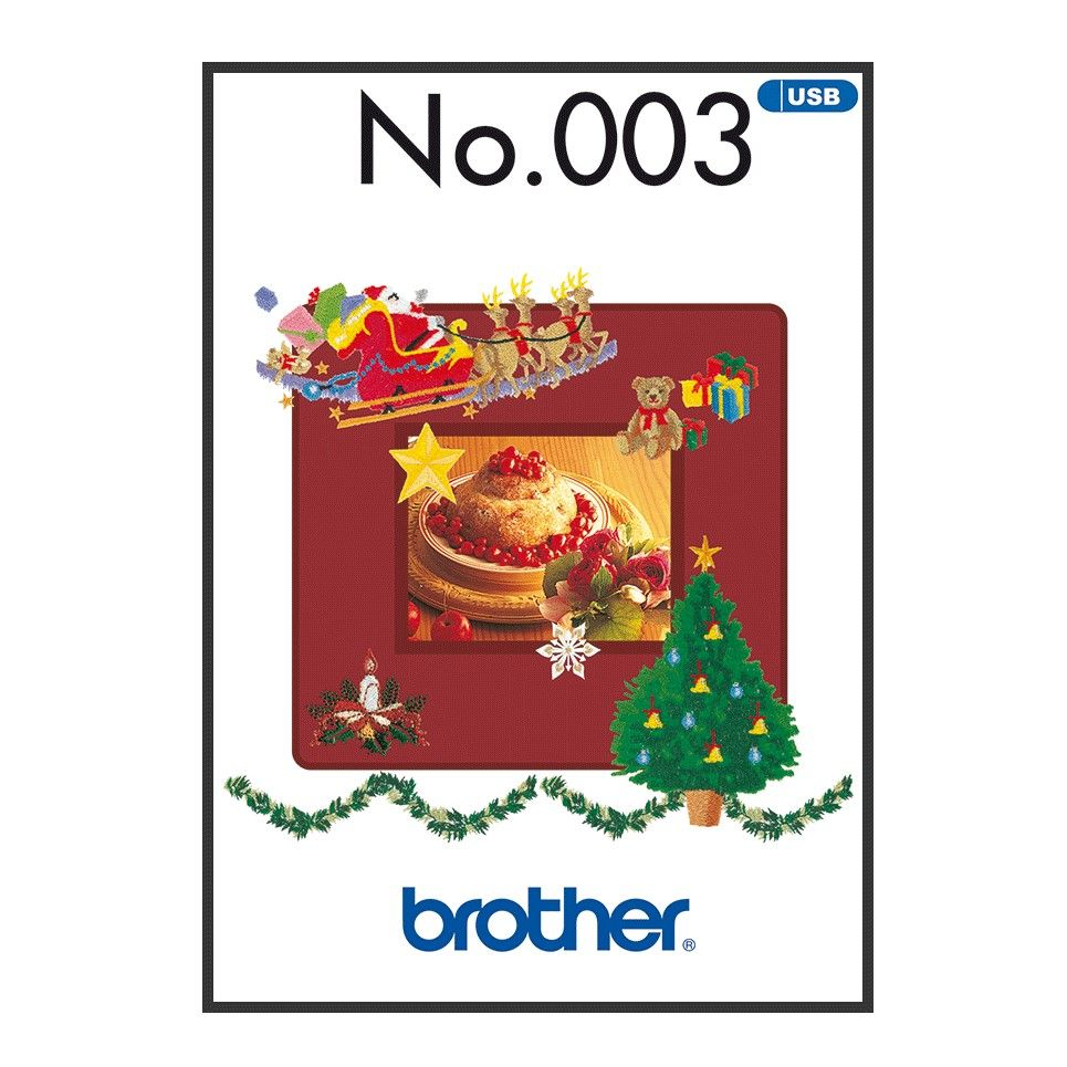 Brother Embroidery Sewing Machine Memory USB Stick BLECUSB3 Winter Collection A090.USB3