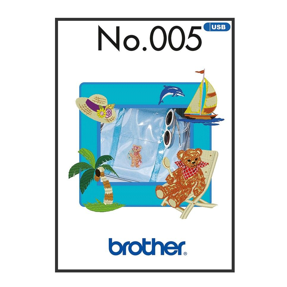 Brother Embroidery Sewing Machine Memory USB Stick BLECUSB5 Summer Collection A090.USB5