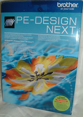 Brother PED PE Design Next  Embroidery Software - UPGRADE PLUS TO NEXT