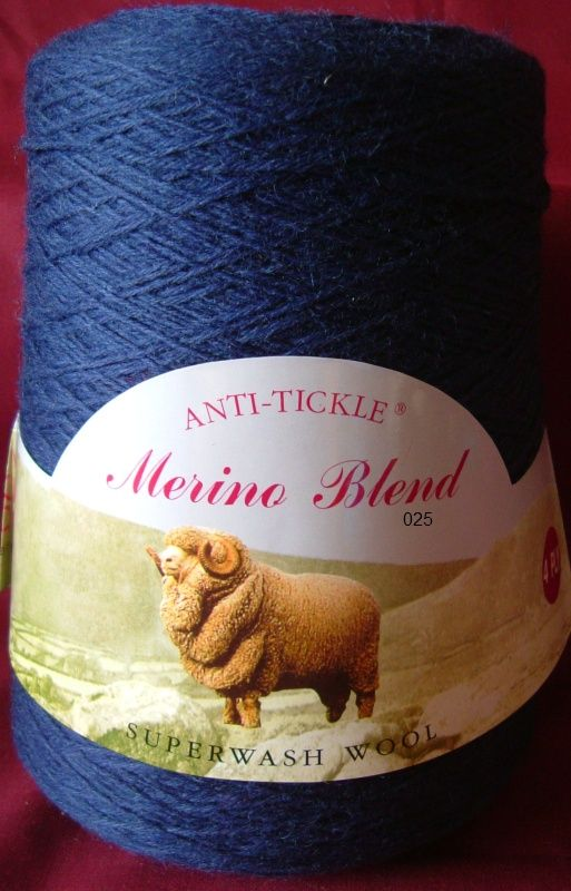 King Cole Pure Wool Yarn 500g Cone 4ply - French Navy