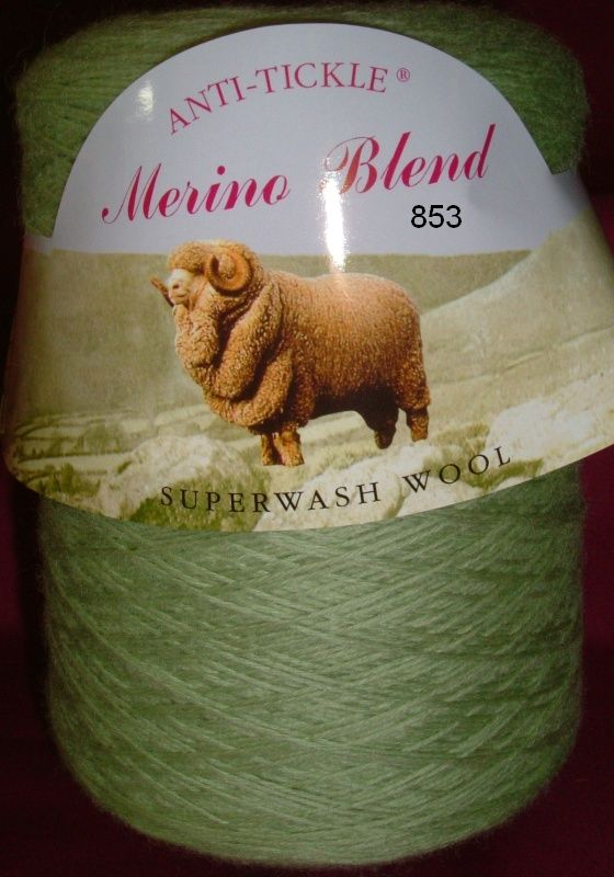 King Cole Pure Wool Yarn 500g Cone 4ply - Sage