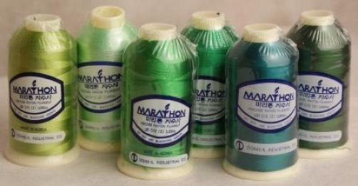 Marathon Embroidery Thread RAYON 6 Pack - Green