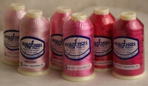 Marathon Embroidery Thread RAYON 6 Pack - Pink