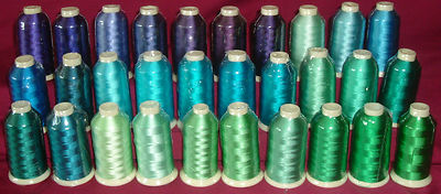Marathon Rayon Embroidery Machine Thread 1000m Spool Choice of Colours 1083-1116