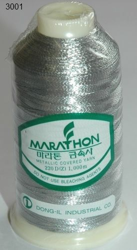 Marathon Rayon Embroidery Machine Thread Metallic - 3001