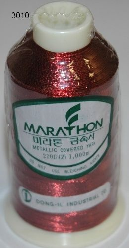 Marathon Rayon Embroidery Machine Thread Metallic - 3010
