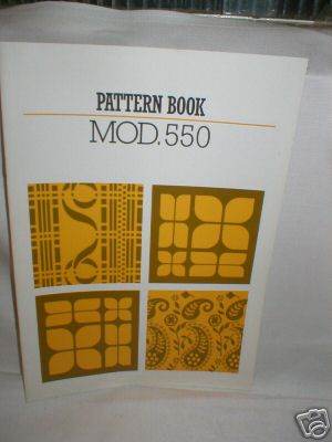 Pattern Book - Knitmaster SK550 Knitting Machine