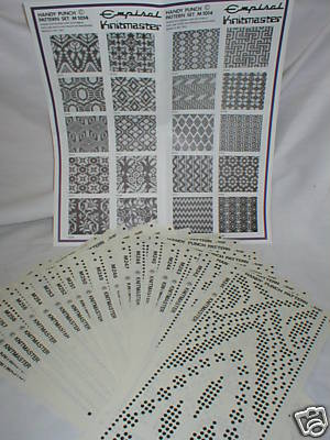 Pre Printed Pattern Sets Knitmaster Knitting Machine 3