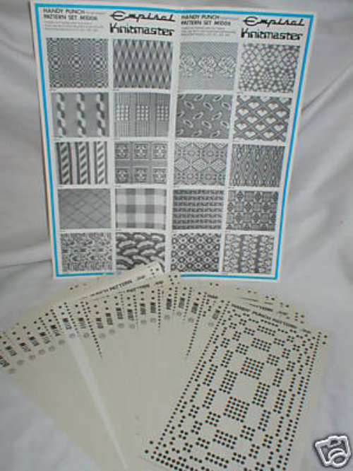 Pre Printed Pattern Sets Knitmaster Knitting Machine K52.M1006