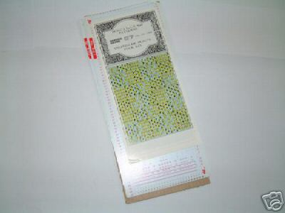 Pre Punched card Set -  Knitmaster Knitting machine K09.57 Tuck