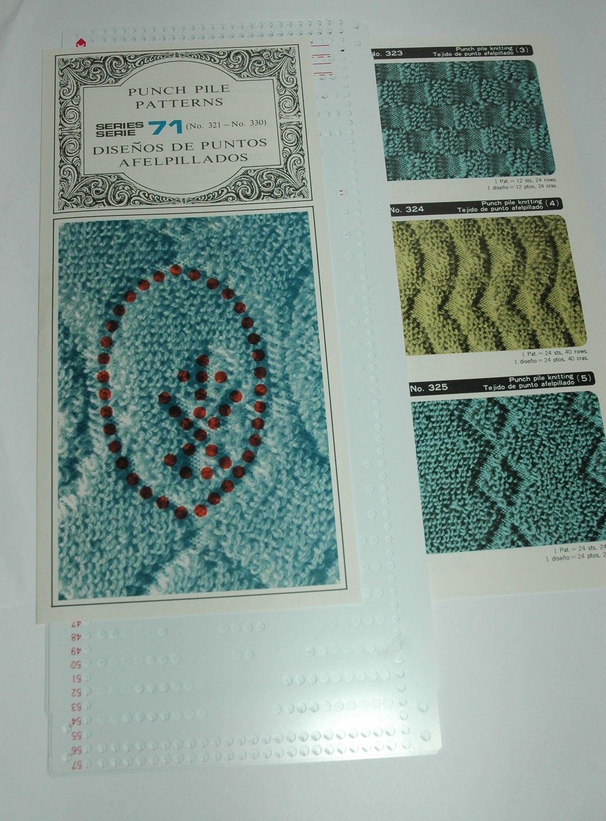 Knitting Machine For Home : Pre punched pattern card sets for knitting machine ribbers