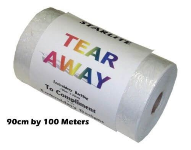Tear Away Backing  Stabiliser 90cms x 100mtrs