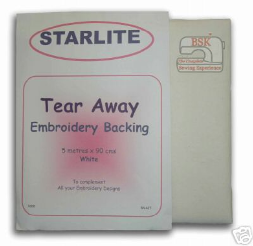Tear Away Embroidery Backing / Stabiliser 5mtr x 90cms