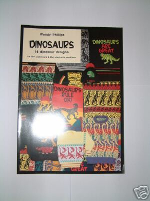 Wendy Phillips - Dinosaurs book  for Machine Knitting M827