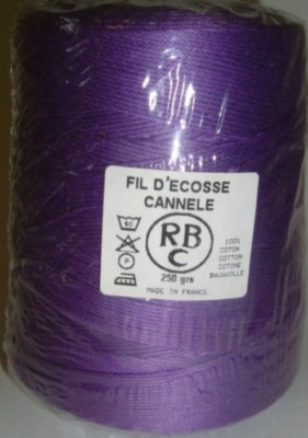 Yeoman Cannele Corded Mercerised Cotton 4ply Cardinal Y196.027