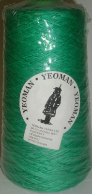 Yeoman Cannele Corded Mercerised Cotton 4ply Emerald Y196.042
