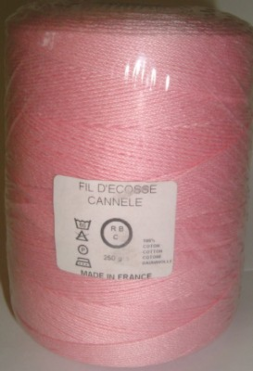Yeoman Cannele Corded Mercerised Cotton 4ply Pink - DISC