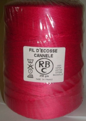 Yeoman Cannele Corded Mercerised Cotton 4ply Raspberry Y196.139