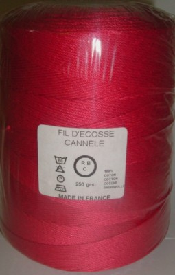 Yeoman Cannele Corded Mercerised Cotton 4ply Ruby Y196.038