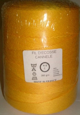Yeoman Cannele Corded Mercerised Cotton 4ply Saffron Y196.023